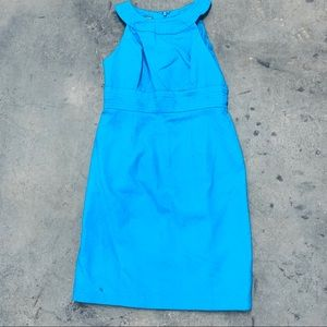 Muse Sleeveless Lined Shift Dress Bright Aqua SZ 8